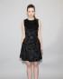 Jackie Dress in Black Broadtail